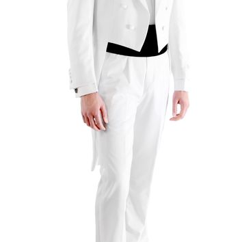 Premium A201 Regular Fit White Tail Tuxedo