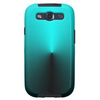 Aqua Pin Push Samsung Galaxy S3 Cover