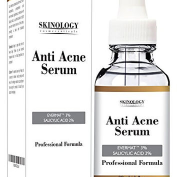Acne Treatment for Face & Pore Minimizer Serum - Dermatologist Tested Product, Organic Ingredients to Help Control & Get Rid of Acne, Great Anti Acne Spot Treatment, Visibly Reduces Acne Scars - 1 oz