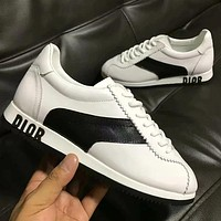 DIOR Women Fashion Leather Running Sneakers Sport Shoes