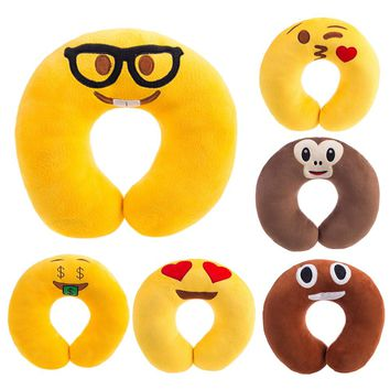 Creative U shaped Emoji Neck Pillow