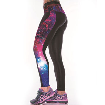 3D Star Galaxy Print Women Sexy Fitness Leggings Sportswear Body Building Clothes Punk Rock Pants Ropa Deportiva Mujer
