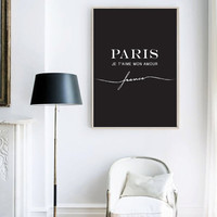 Paris Poster, Paris Decor, Minimal Art, Typography Poster, Fashion Poster, Paris Bedroom Decor, Paris Wall Art, Paris Print.