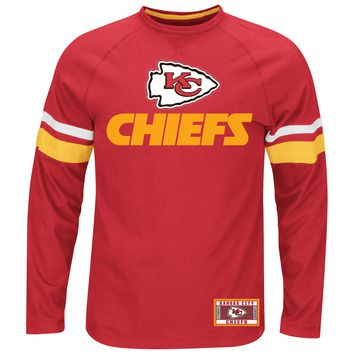 Kansas City Chiefs Power Hit Long Sleeve NFL T-Shirt With Felt Applique