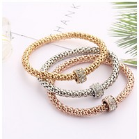 Hot style paneling bracelet, bala drill ball spring popcorn hand chain three-color kit first accessories