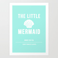 Disney Princesses: The Little Mermaid Minimalist Art Print by Ofalexandra