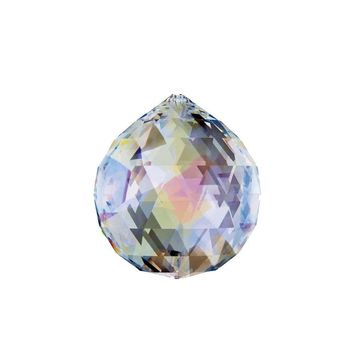 Hongville Fancy Crystal Ball Prisms Pendant Feng Shui Sun Catcher for Holiday Decorating Hanging, 30mm, Aurora Borealis
