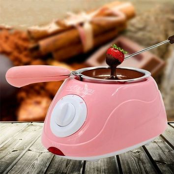 Hot Sale Electric Chocolate Fountain Fondue Singer Chocolate Melt Pot melter Machine DIY Kitchen Tool Gift