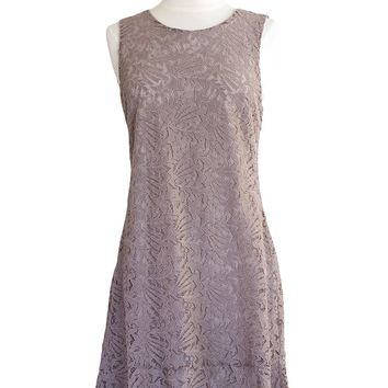 Meleah Lace Overlay Dress in Mauve