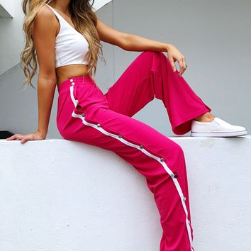 She's So Sporty Set: White/Hot Pink
