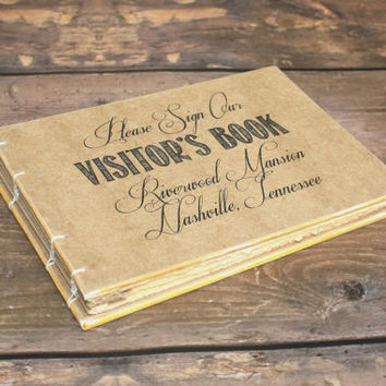 Custom Rustic Visitor's Book - Create Your Own - Guest Book, Event, Planner