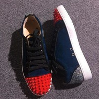 Cl Christian Louboutin Low Style #2056 Sneakers Fashion Shoes