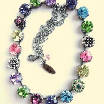 Swarovski crystal choker, 11mm floral bouquet, better than sabika, GREAT PRICE
