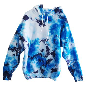 Men's Tie Dye Pullover With Front Pockets
