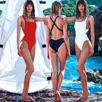 Cross Strap Backless Monokini