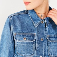 Levi's Silver Tab Cropped Denim Trucker Jacket | Urban Outfitters