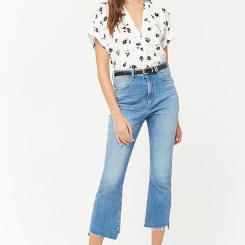 Split-Neck Floral Print Top - Women - 2000259550 - Forever 21 EU English