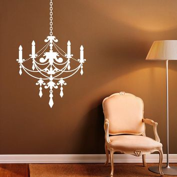 Chandelier Wall Decal Vinyl Stickers Modern Interior Home Design Art Murals Bedroom Wall Graphics Decor Made in US