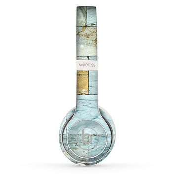 The Blue Marble Layered Bricks Skin Set for the Beats by Dre Solo 2 Wireless Headphones