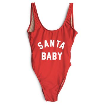 Santa Baby - One Piece Swimsuit - High cut