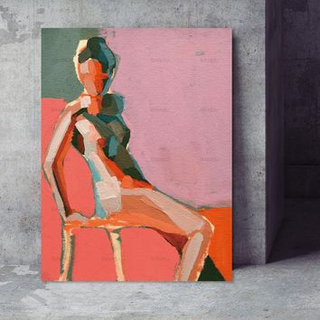 Poster decor Wall Pictures modern wall Wall art abstract print figure on canvas painting art print canvas poster art portrait