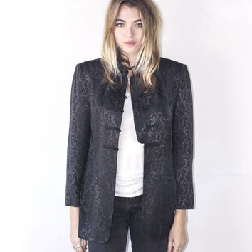 Black Silk Brocade Jacket