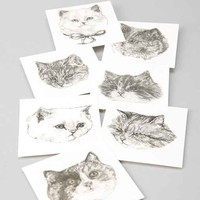 Harriet Gray Cat Temporary Tattoos- Grey One