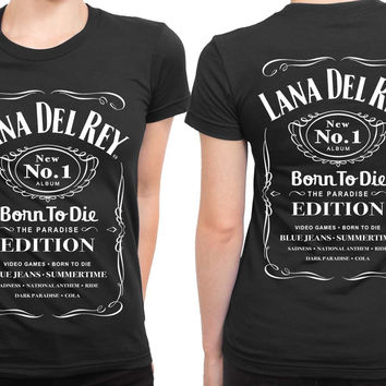 Lana Del Rey Born To Die Jack Daniels 2 Sided Womens T Shirt