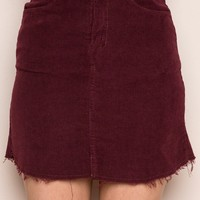 Juliette Corduroy Skirt - Bottoms - Clothing