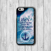 iPhone 6 Case Inspiration Quote iPhone 6 Plus, Abstract Sea iPhone 5S, iPhone 5 Case, iPhone 5C Case, iPhone 4/4S Case Text Word of Anchor