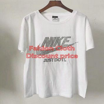 Nike Clothing T-Shirts Short Sleeve Diamond Shirts White