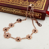 Cute New Arrival Shiny Gift Jewelry Sexy Ladies Stylish Korean Bracelet Titanium Floral Accessory Anklet [8169867783]
