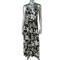 American Living Womens Matte Jersey Floral Print Maxi Dress