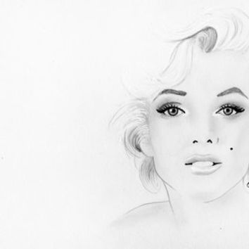 Marilyn Monroe Stretched Canvas by Paint The Moment