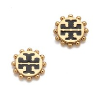 Tory Burch Winslow Logo Stud Earrings | SHOPBOP