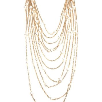 Rosantica Chain Pearl Necklace