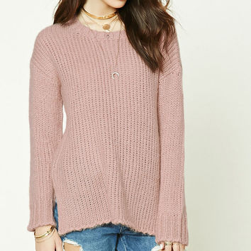 Boxy Side-Slit Sweater
