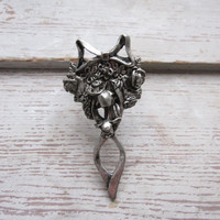 Vintage Gothic Ring with Roses