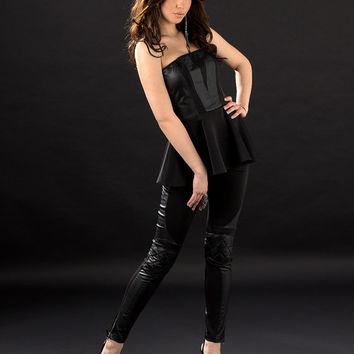 Leather pants / Black leather pants / Biker moto style leggings / Extravagant leggings / Biker pants / Skinny leather pants