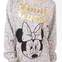 Minnie Mouse Floral Pullover