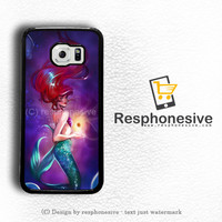 Princess Mermaid Ariel Redhead Diva Fashion Fanart Fan Art Beautiful Woman Disney Princesses Samsung Galaxy S6 Case