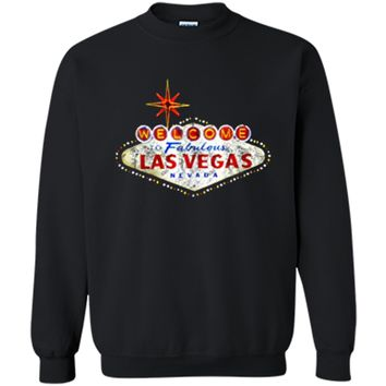 Welcome to Las Vegas Nevada Vintage Sign Souvenir T-Shirt Printed Crewneck Pullover Sweatshirt