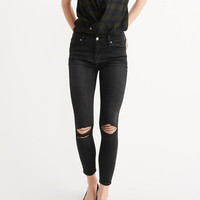 Womens Ripped Super Skinny Ankle Jeans | Womens Bottoms | Abercrombie.com