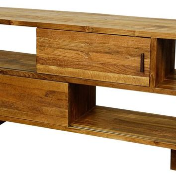 Ohno Media Stand RECLAIMED TEAK WOOD