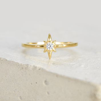 North Star Ring - Gold