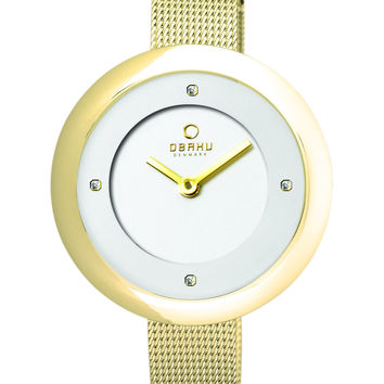 Obaku Ladies' Watch Gold Case and Gold Mesh V162LXGIMG