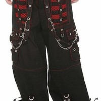 "Tripp NYC ""Armageddon"" Bondage Pants (Black / Red) #31,32"