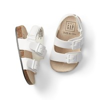 Double-Buckle Sandals|gap