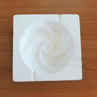 Royal Haeger Ashtray White Op Art Swirl #2091