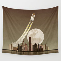 Rocket City Wall Tapestry by WyattDesign
